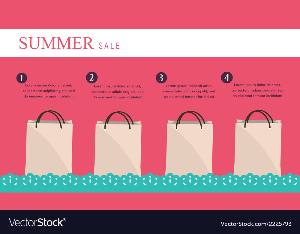 Sale infographics with shopping bags vector | Price: 1 Credit (USD $1)