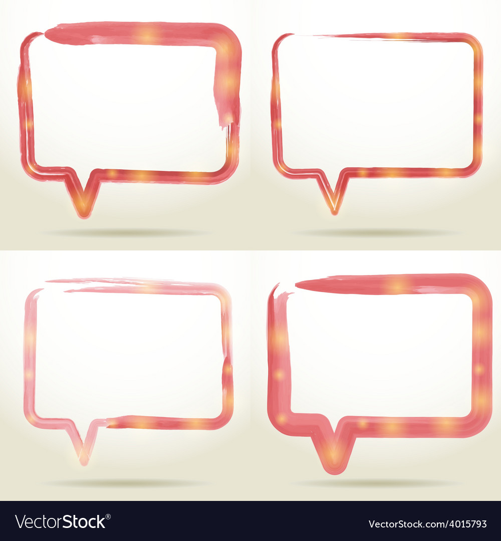 Set blank empty white speech bubbles watercolor on vector | Price: 1 Credit (USD $1)