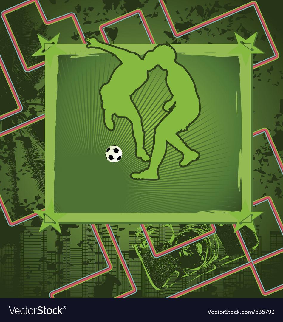 Soccer vintage frame vector | Price: 1 Credit (USD $1)