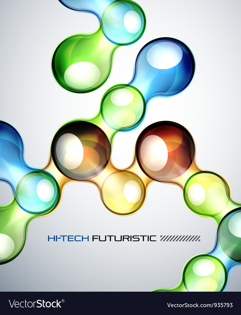 Techno bubble background vector | Price: 1 Credit (USD $1)