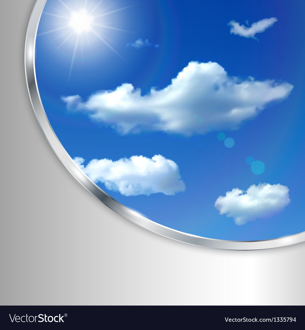 Abstract background with sky sun and clouds vector   Price: 1 Credit (USD $1)