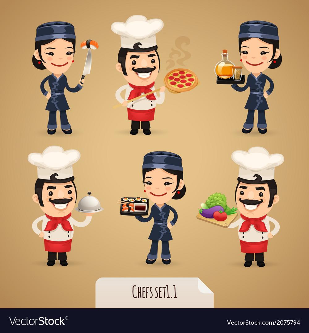 Chefs set1 1 vector | Price: 1 Credit (USD $1)