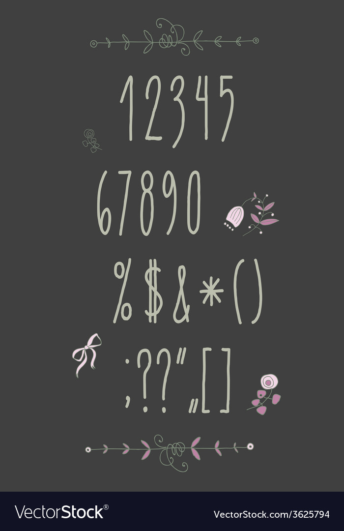 Decorative alphabet and floral elements vector | Price: 1 Credit (USD $1)