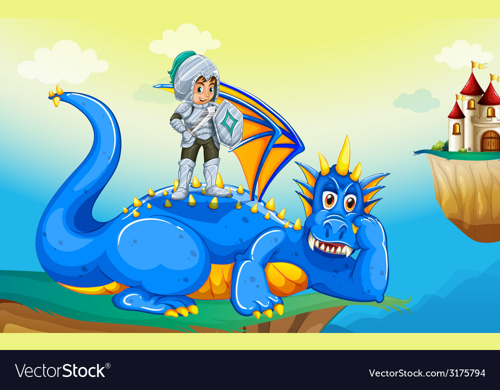 Dragon and knight vector | Price: 3 Credit (USD $3)