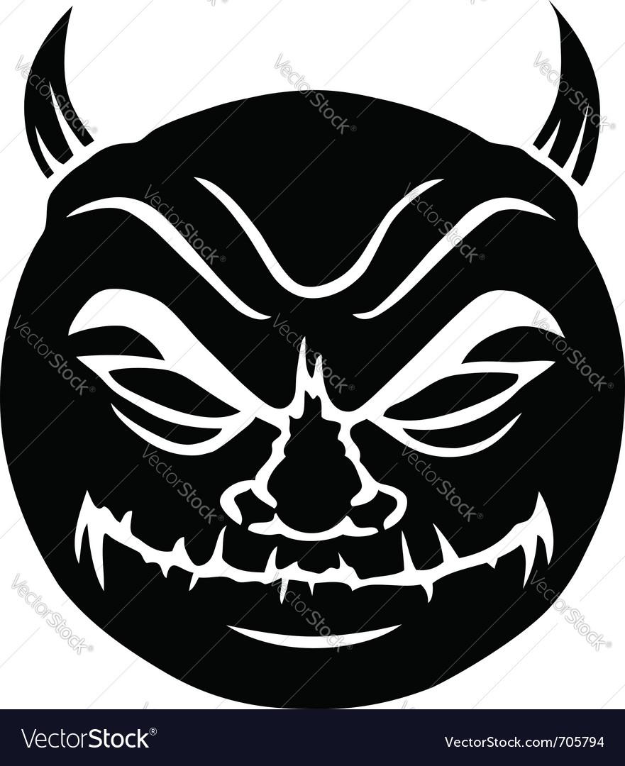 Evil smiley in black vector | Price: 1 Credit (USD $1)