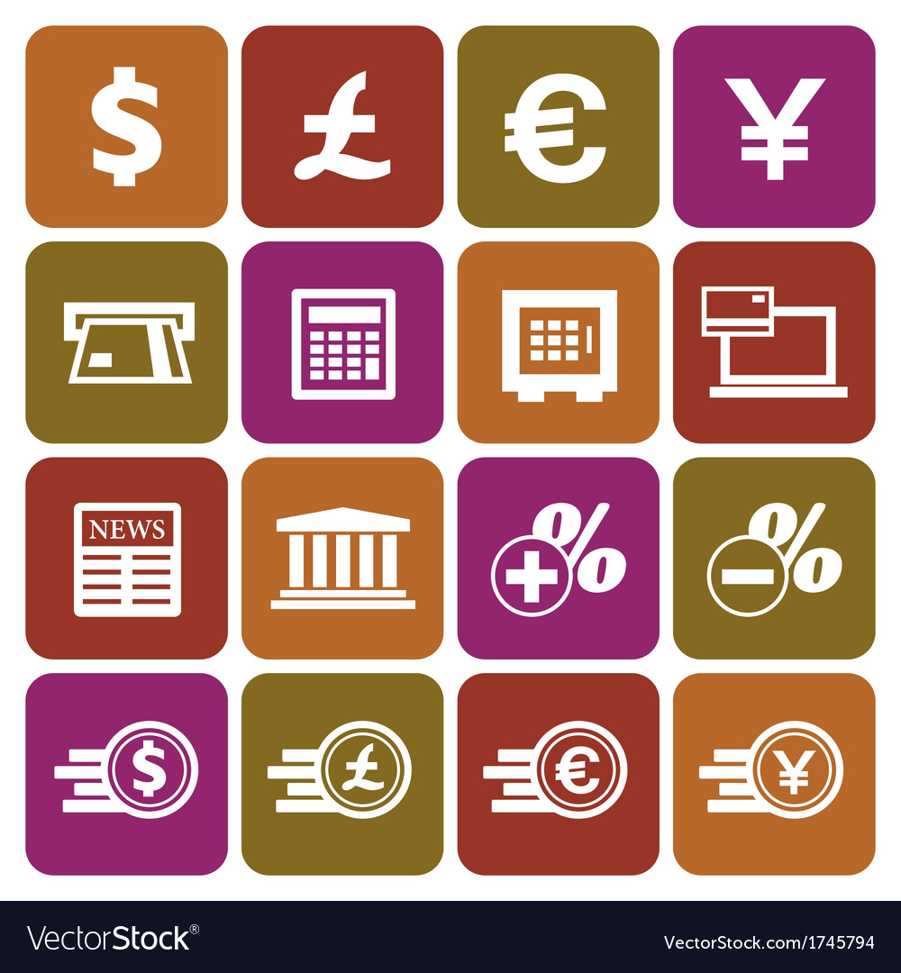 Financial and money icon set vector | Price: 1 Credit (USD $1)