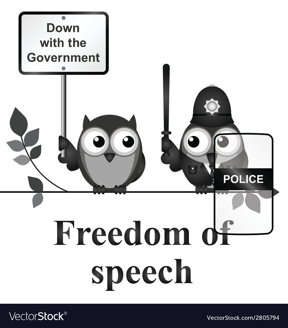 Freedom of speech vector | Price: 1 Credit (USD $1)