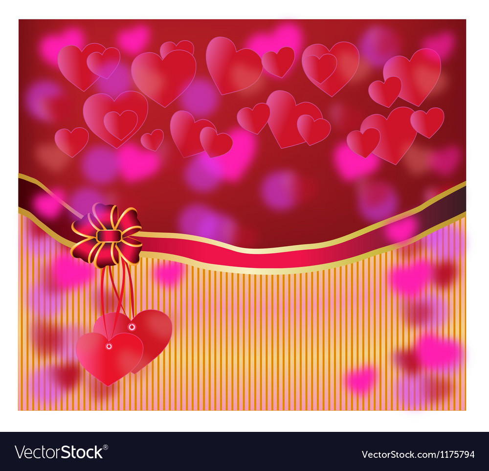 Happy valentines day postcard vector | Price: 1 Credit (USD $1)
