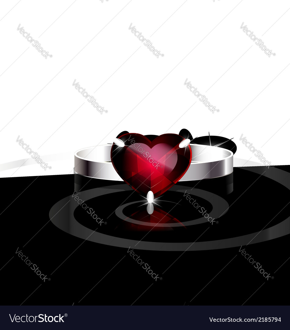 Red heart- ring vector | Price: 1 Credit (USD $1)