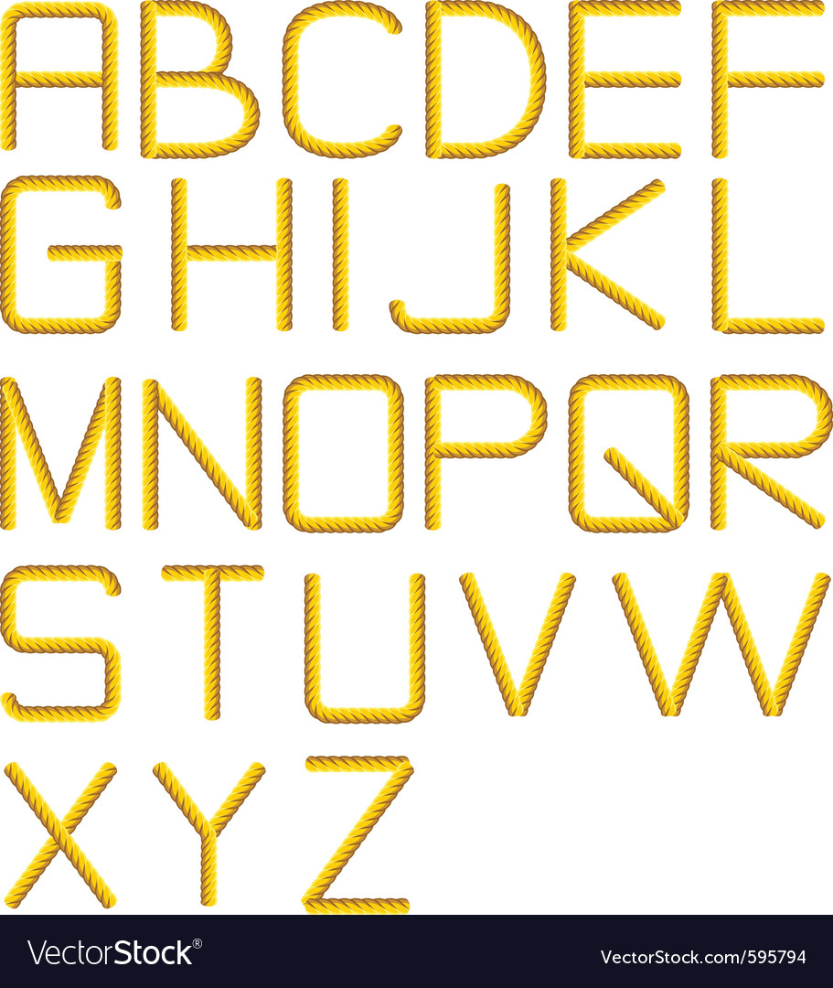 Rope alphabet vector | Price: 1 Credit (USD $1)