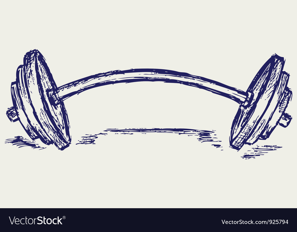 Sketch dumbbell weight vector | Price: 1 Credit (USD $1)
