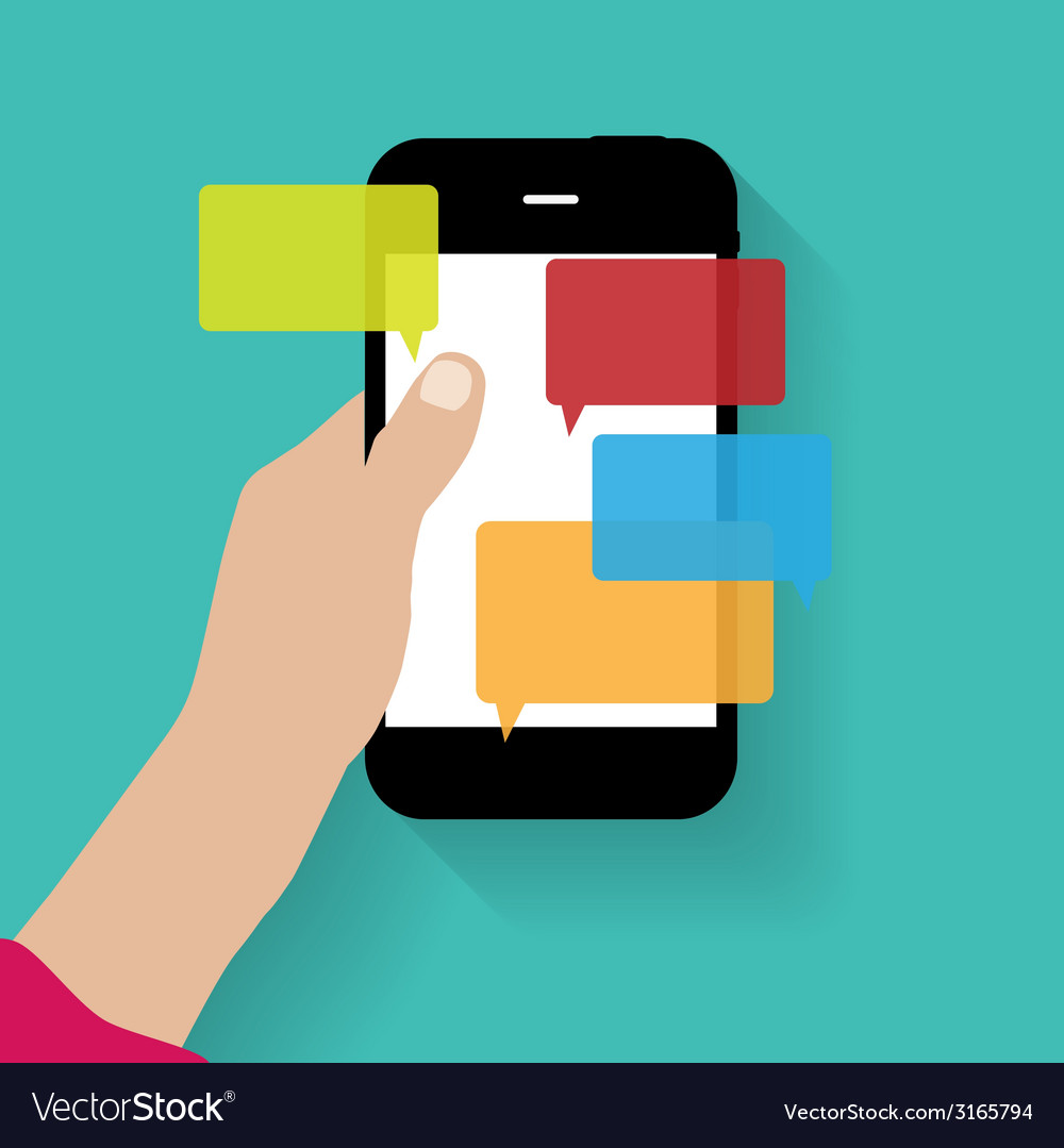 Text messaging flat concept vector   Price: 1 Credit (USD $1)