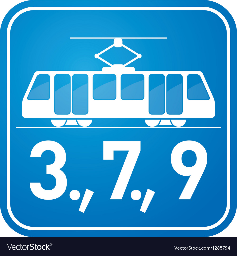 Tram sign vector | Price: 1 Credit (USD $1)