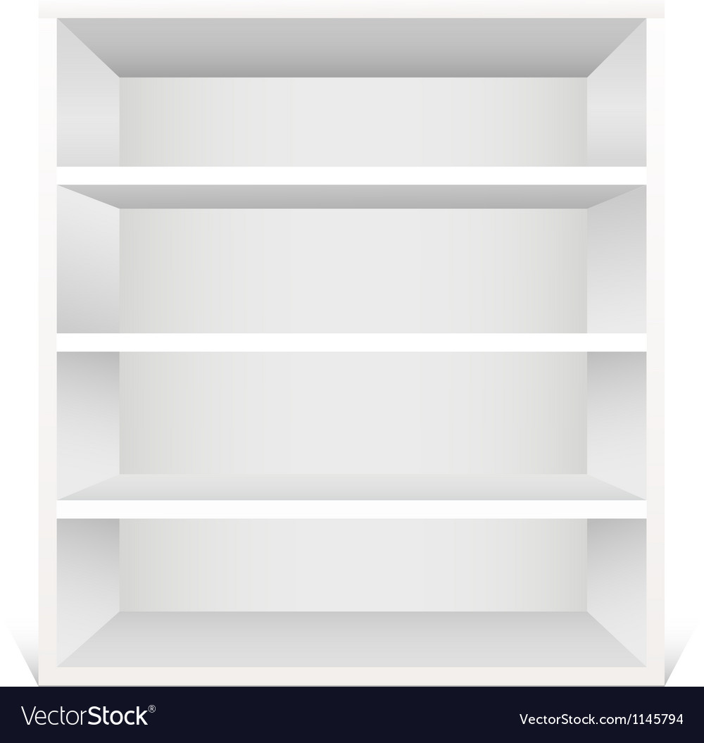 White shelf vector | Price: 1 Credit (USD $1)