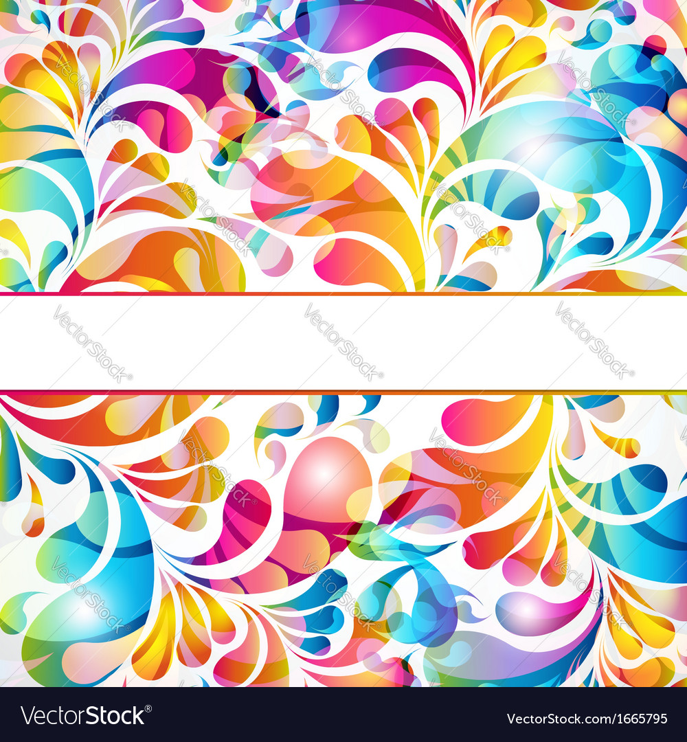 Abstract background with bright teardrop-shaped vector | Price: 1 Credit (USD $1)