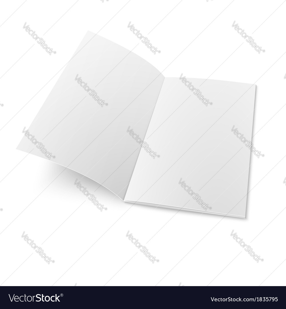 Booklet template on white background vector | Price: 1 Credit (USD $1)