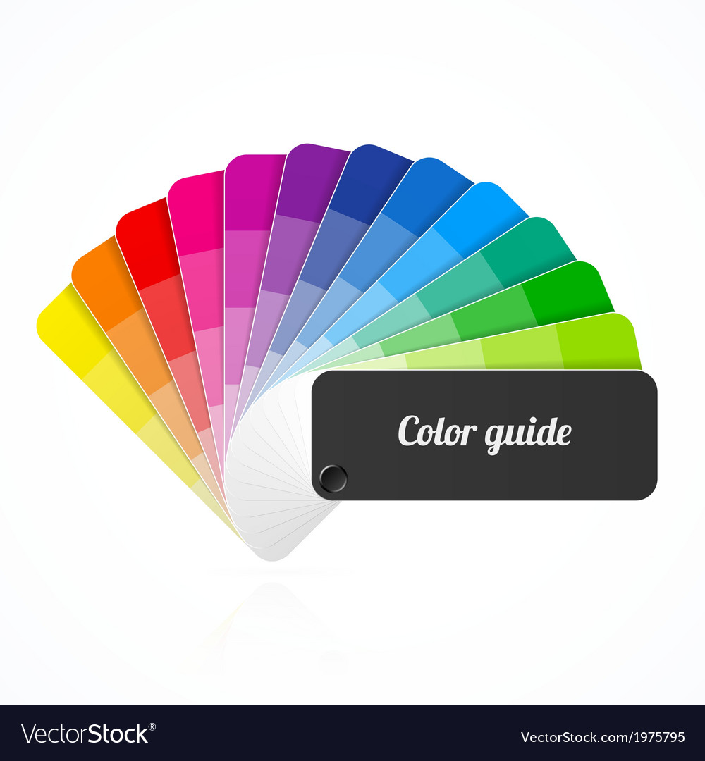 Color palette guide fan catalog vector | Price: 1 Credit (USD $1)
