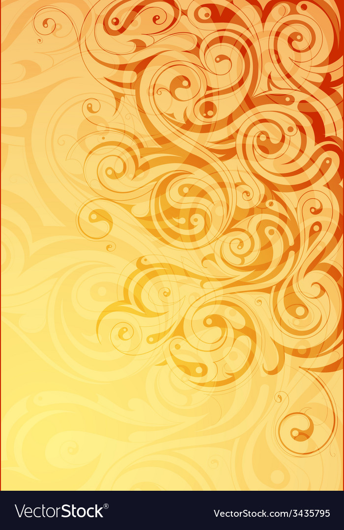 Elegant abstraction with floral swirls vector | Price: 1 Credit (USD $1)