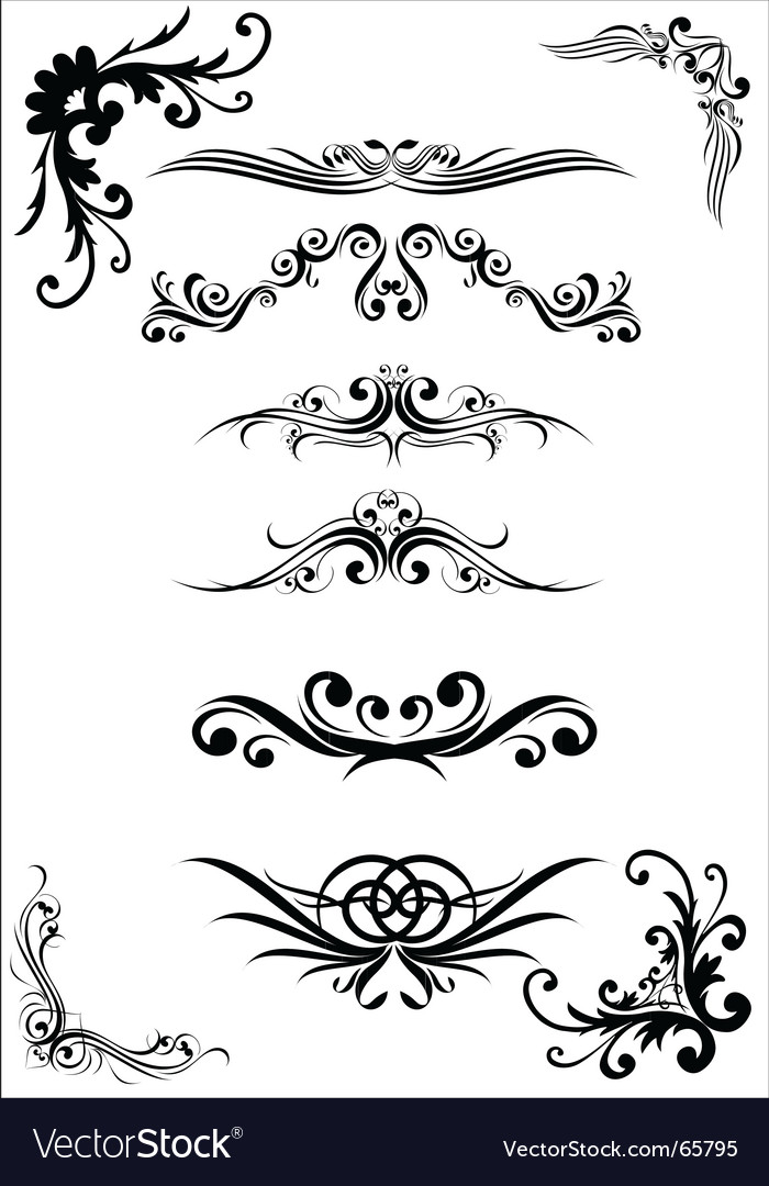 Floral design elements vector | Price:  Credit (USD $)