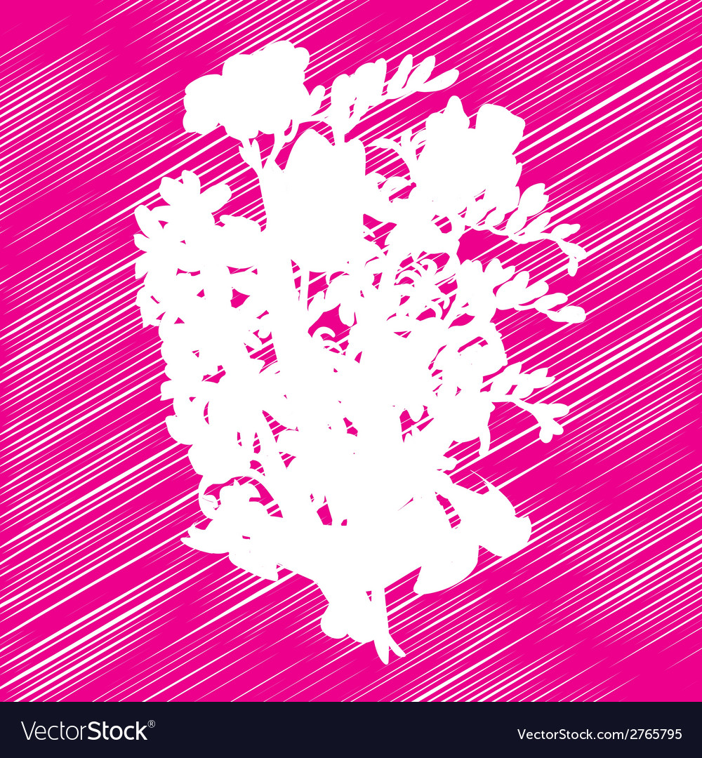 Flowers bouquet stencil vector | Price: 1 Credit (USD $1)