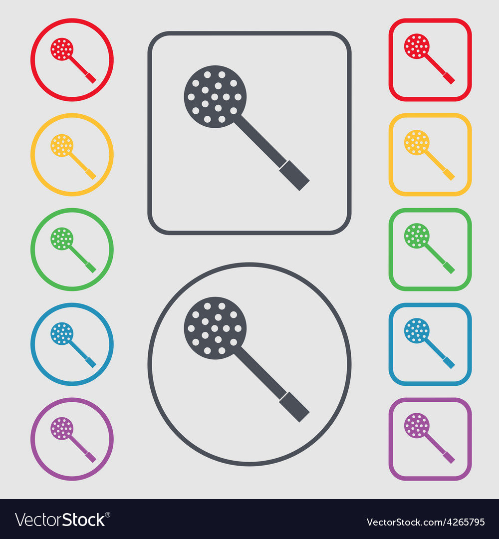 Kitchen appliances icon sign symbol on the round vector | Price: 1 Credit (USD $1)