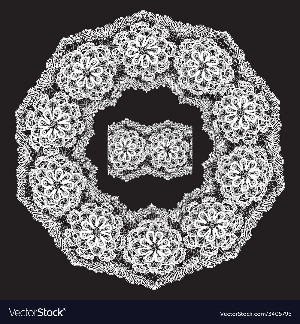 Lace round 6 380 vector | Price: 1 Credit (USD $1)