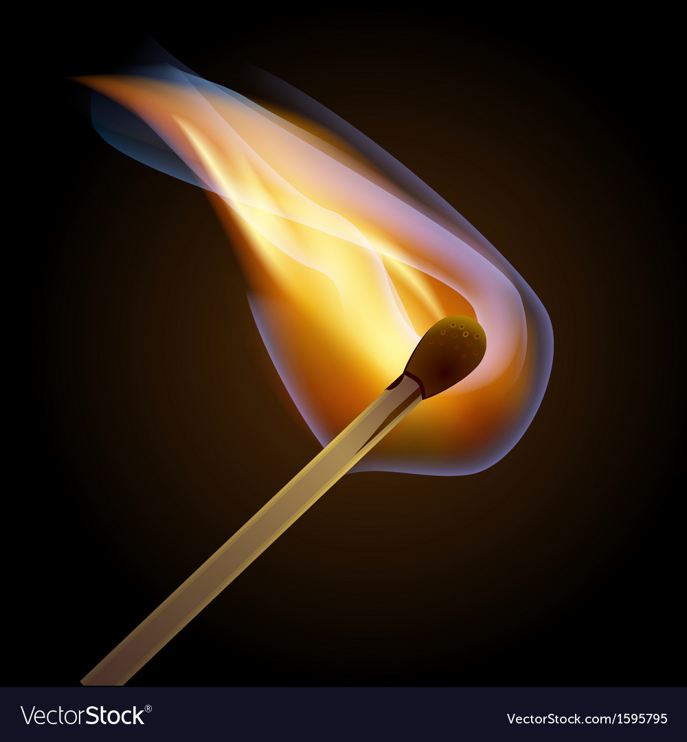 Match bursting to flame eps10 vector | Price: 1 Credit (USD $1)