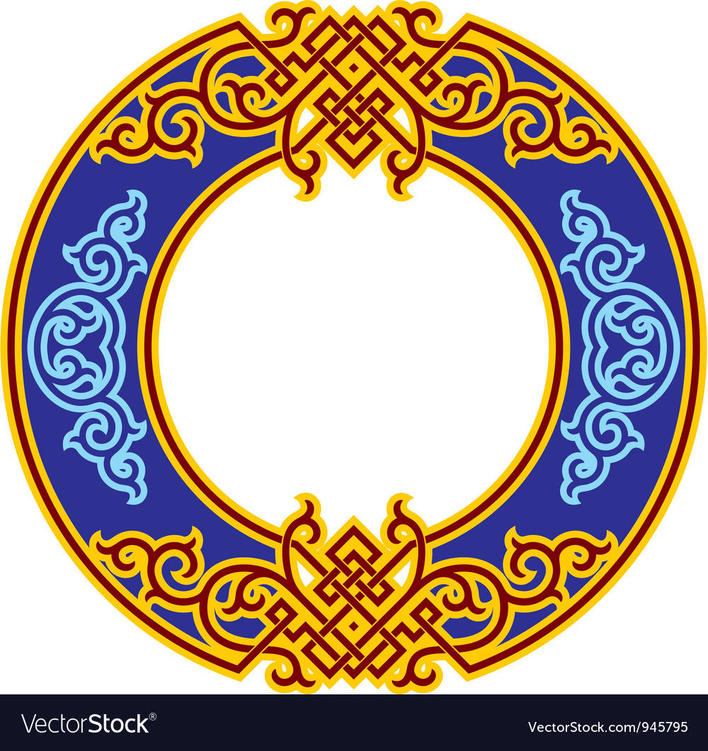 Oriental rosette - chinese ornament vector | Price: 1 Credit (USD $1)