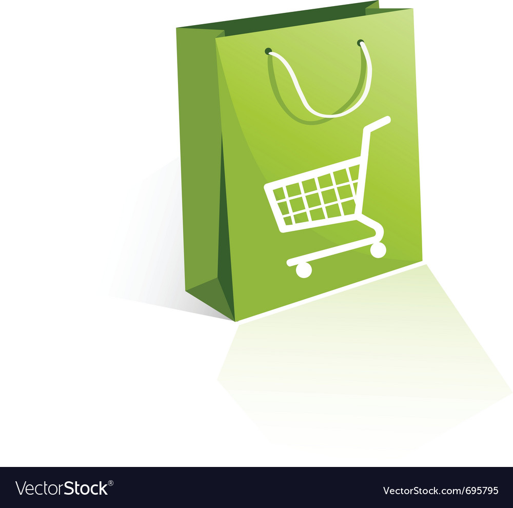 Shopping bag vector | Price: 1 Credit (USD $1)