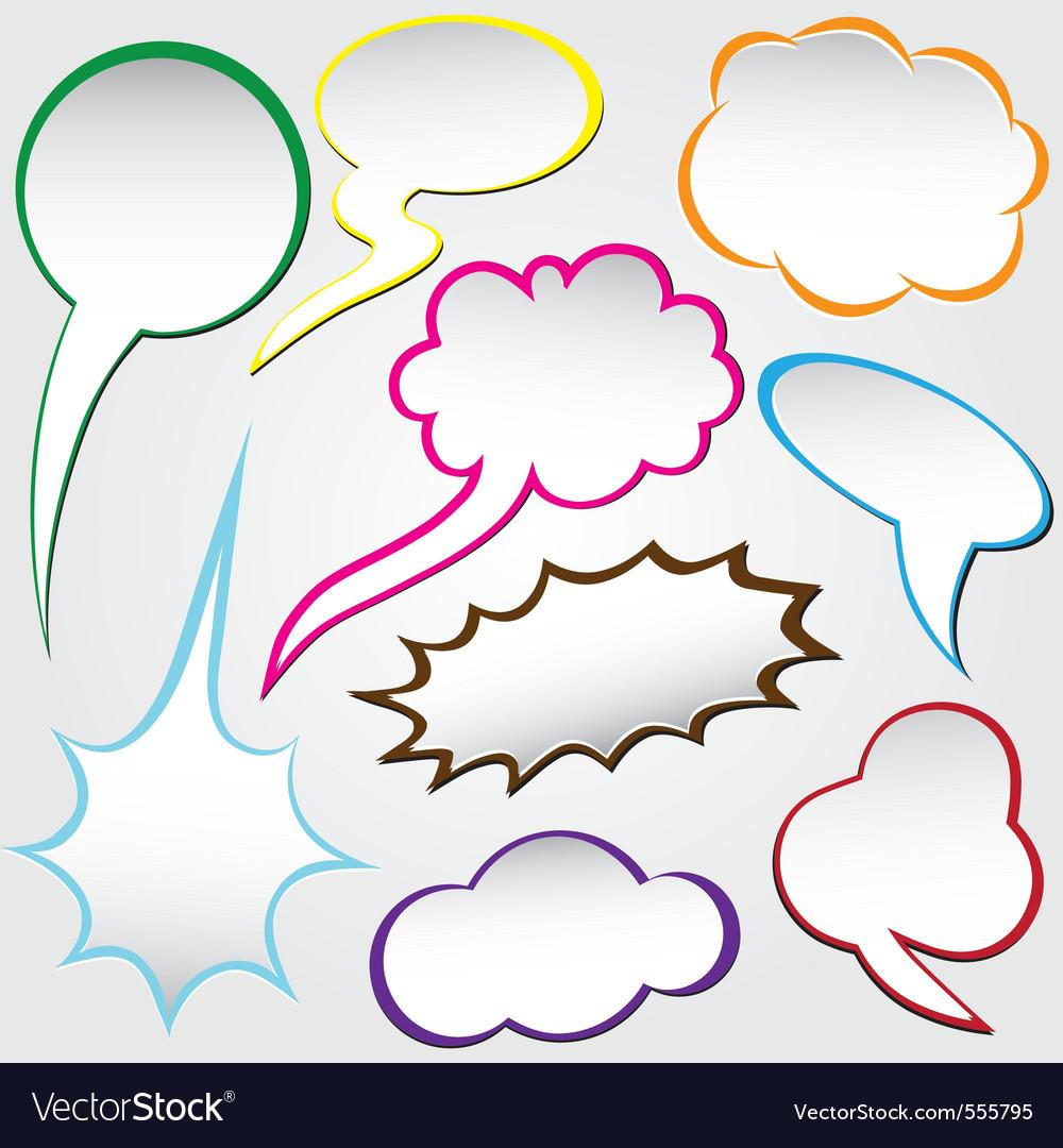 Speech bubble dialog vector | Price: 1 Credit (USD $1)