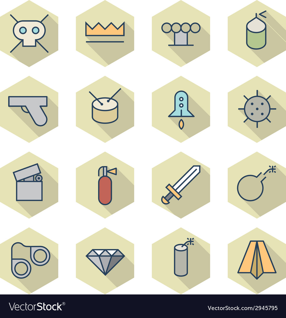 Thin line icons for miscellaneous items vector | Price: 1 Credit (USD $1)
