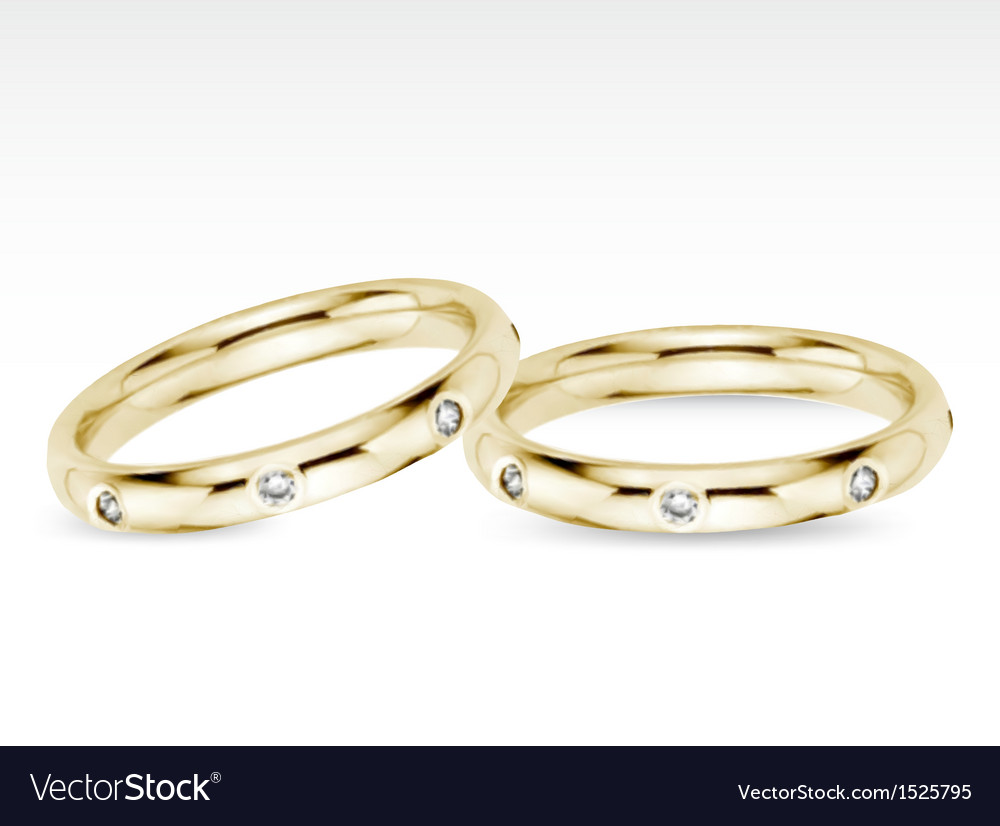 Two wedding diamond rings vector | Price: 1 Credit (USD $1)