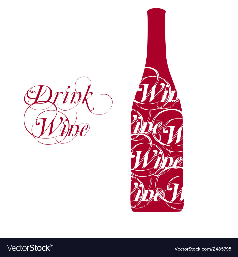 Wine bottle silhouette vector | Price: 1 Credit (USD $1)