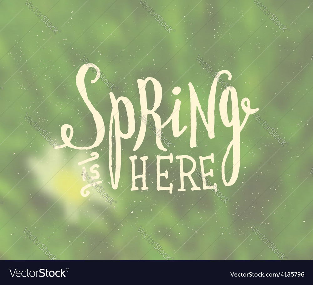 Blurred background typographic spring design vector | Price: 1 Credit (USD $1)
