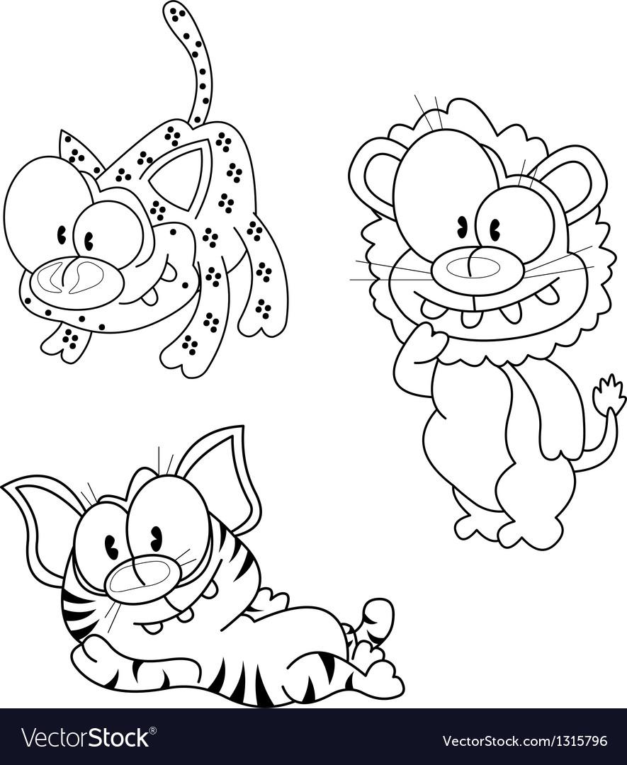 Cartoon big cats vector | Price: 1 Credit (USD $1)