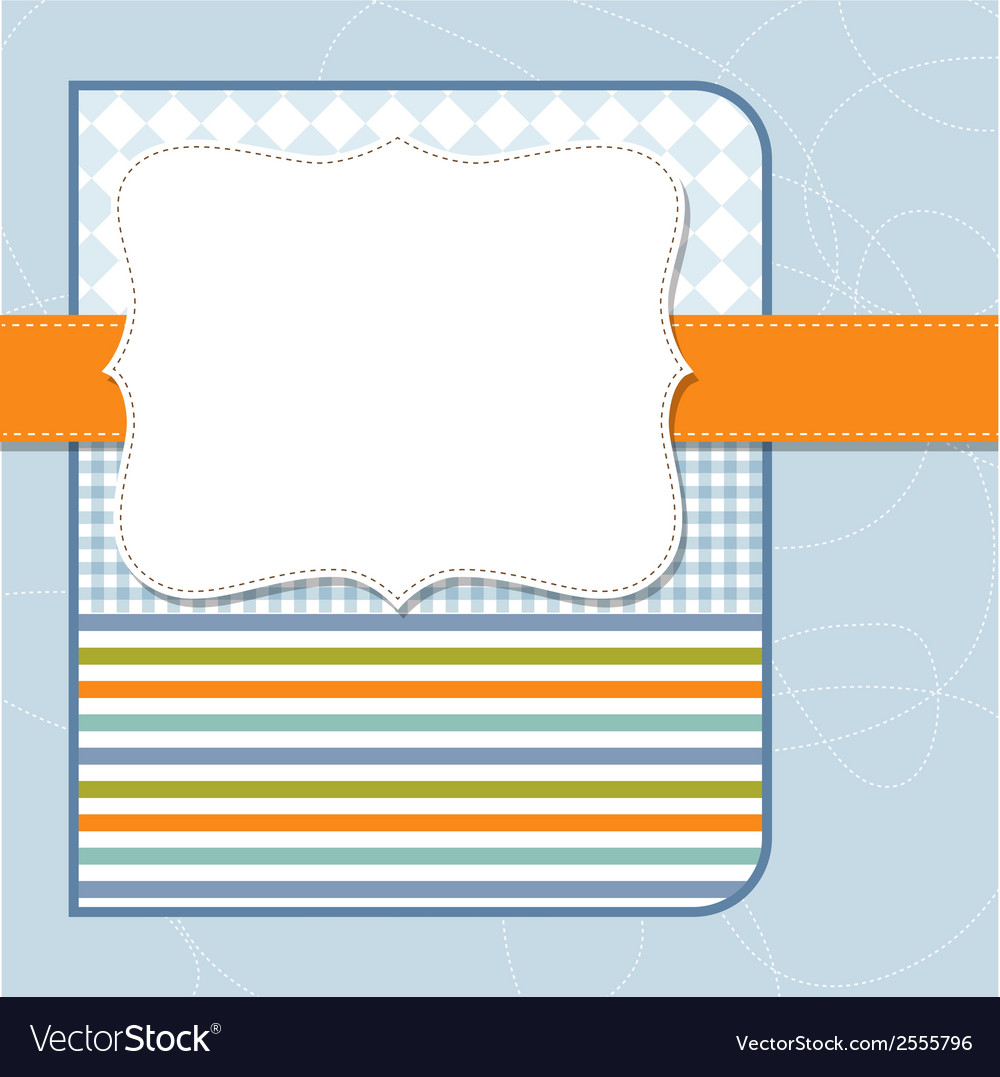 Cool template frame design for greeting card vector | Price: 1 Credit (USD $1)