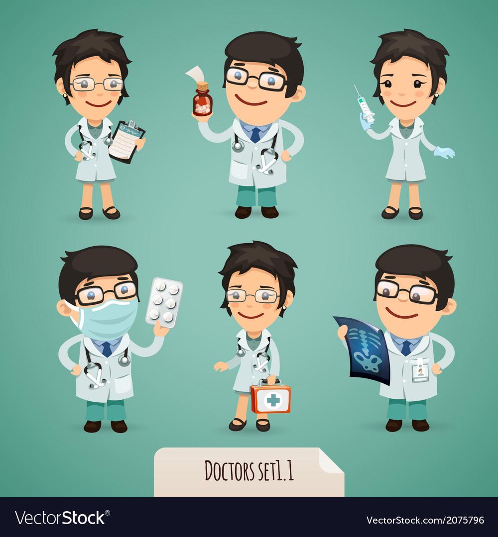 Doctors set1 1 vector | Price: 1 Credit (USD $1)