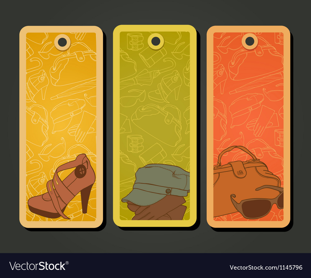 Fashion tags vector   Price: 1 Credit (USD $1)