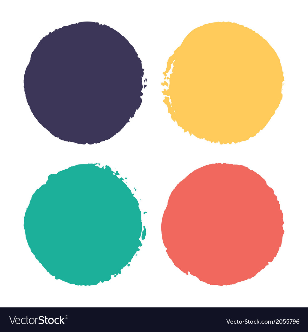 Four watercolor dots vector | Price: 1 Credit (USD $1)