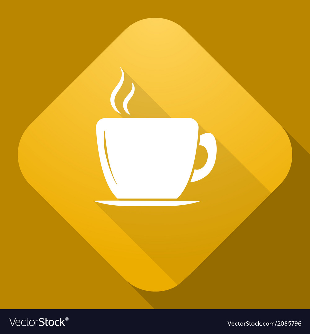 Icon of cup with a long shadow vector | Price: 1 Credit (USD $1)
