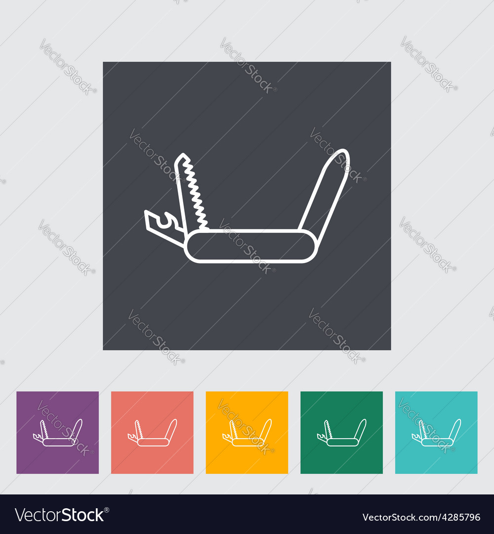 Knife icon vector | Price: 1 Credit (USD $1)