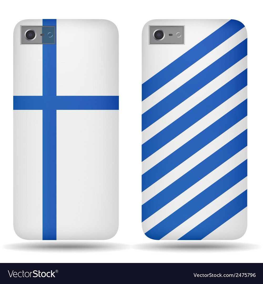 Rear covers smartphone with flags finland vector | Price: 1 Credit (USD $1)