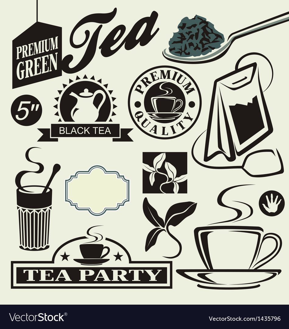 Set for tea vector | Price: 1 Credit (USD $1)