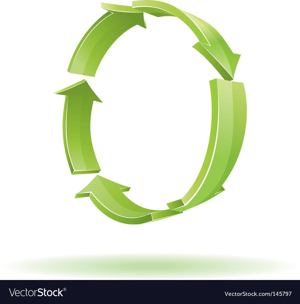 3d arrows recycle symbol vector   Price: 1 Credit (USD $1)