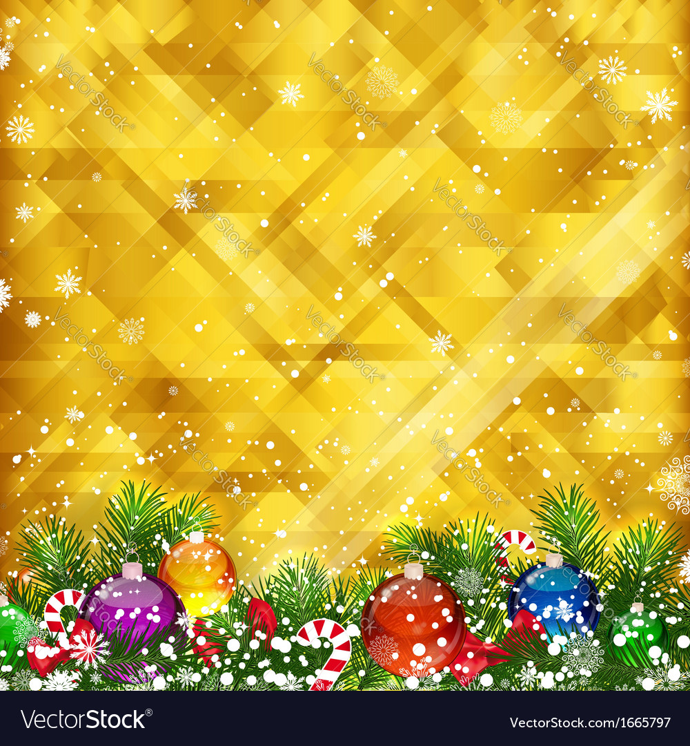 Christmas golden background and place for your vector | Price: 5 Credit (USD $5)