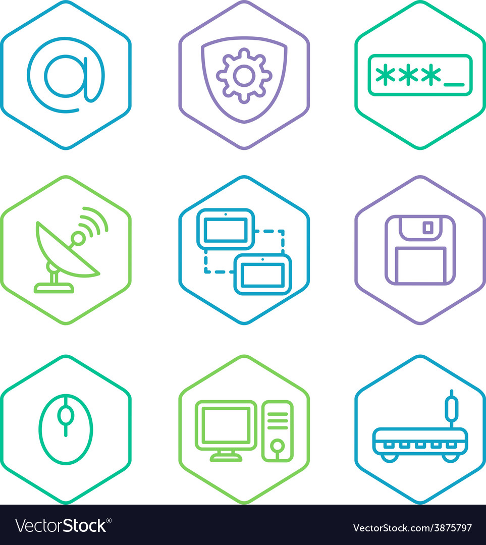 Data analytics icons set big data concept icons vector | Price: 1 Credit (USD $1)