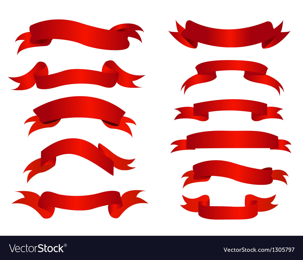 Ribbon banners vector | Price: 1 Credit (USD $1)