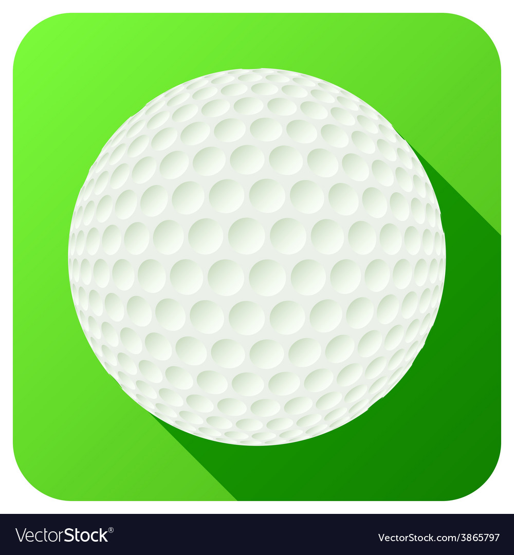 Sport icon with golf ball in flat style vector | Price: 1 Credit (USD $1)