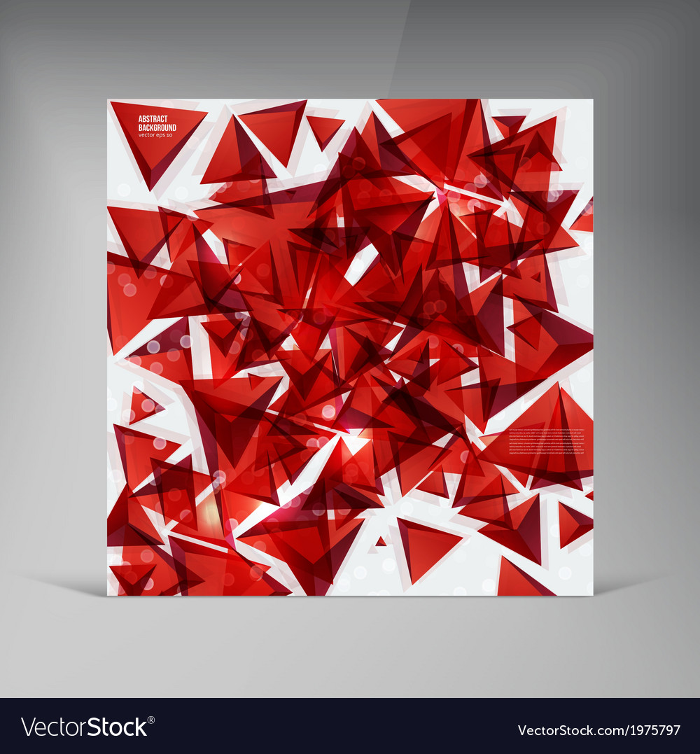 Squares abstract background red vector | Price: 1 Credit (USD $1)