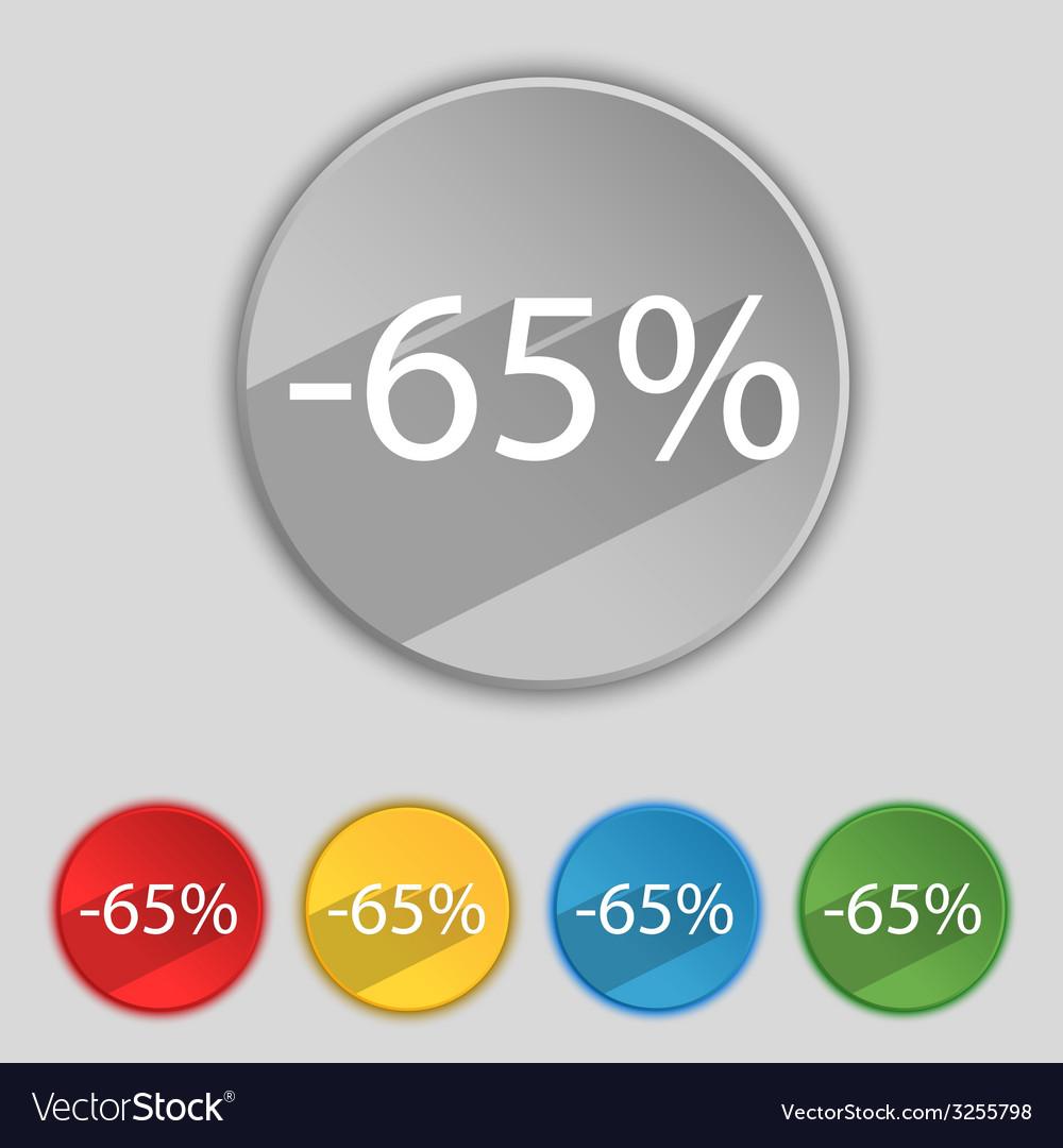 65 percent discount sign icon sale symbol special vector   Price: 1 Credit (USD $1)